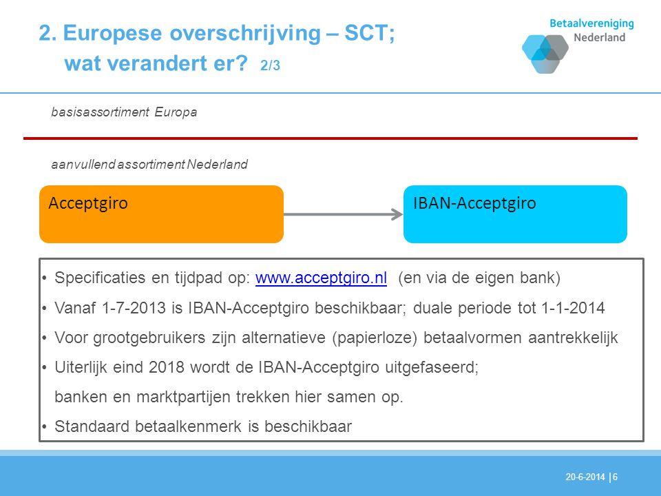 2. Europese overschrijving – SCT; wat verandert er 2/3