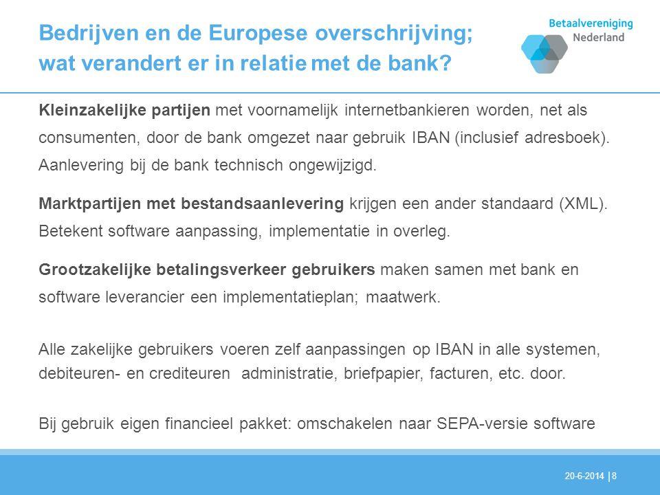 Bedrijven en de Europese overschrijving; wat verandert er in relatie met de bank