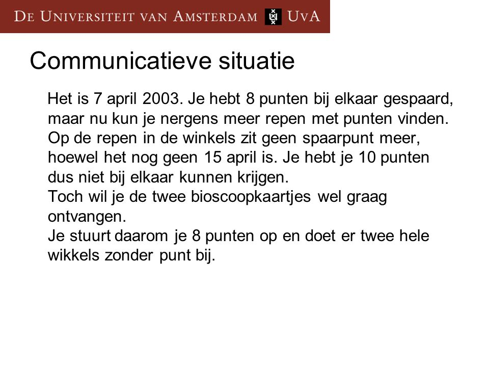 Communicatieve situatie
