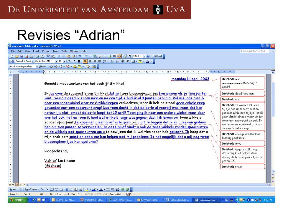 Revisies Adrian