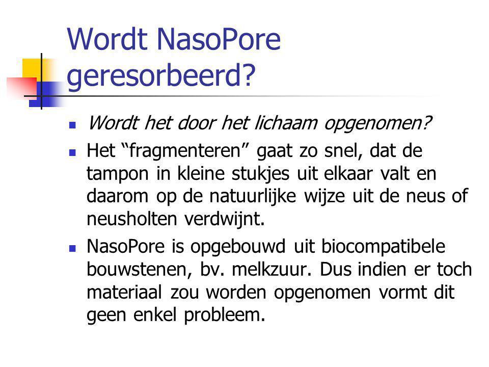 Wordt NasoPore geresorbeerd