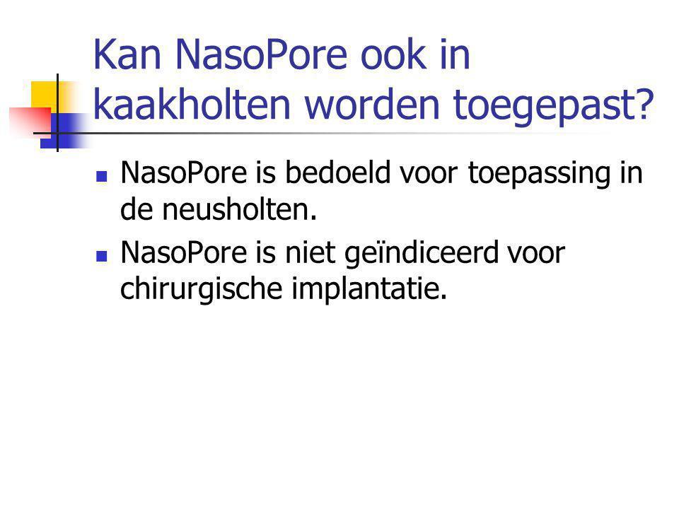 Kan NasoPore ook in kaakholten worden toegepast