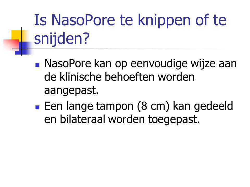 Is NasoPore te knippen of te snijden