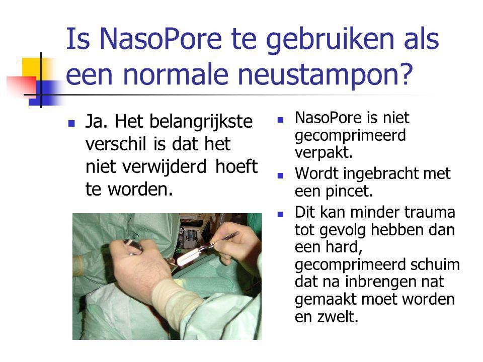 Is NasoPore te gebruiken als een normale neustampon