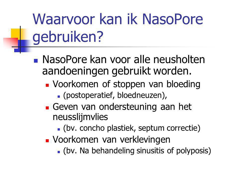 Waarvoor kan ik NasoPore gebruiken