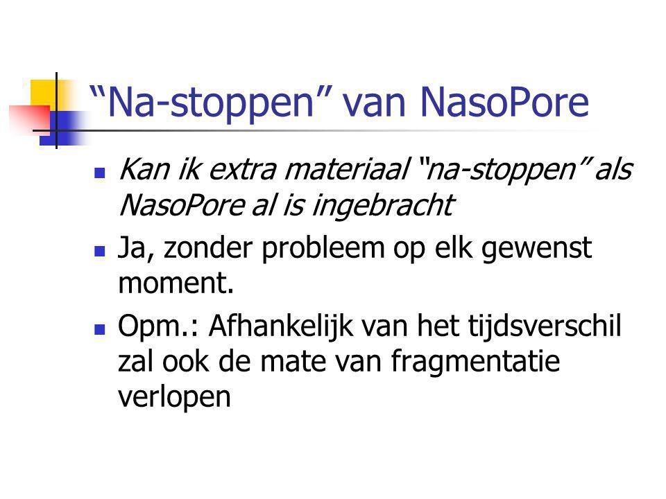 Na-stoppen van NasoPore