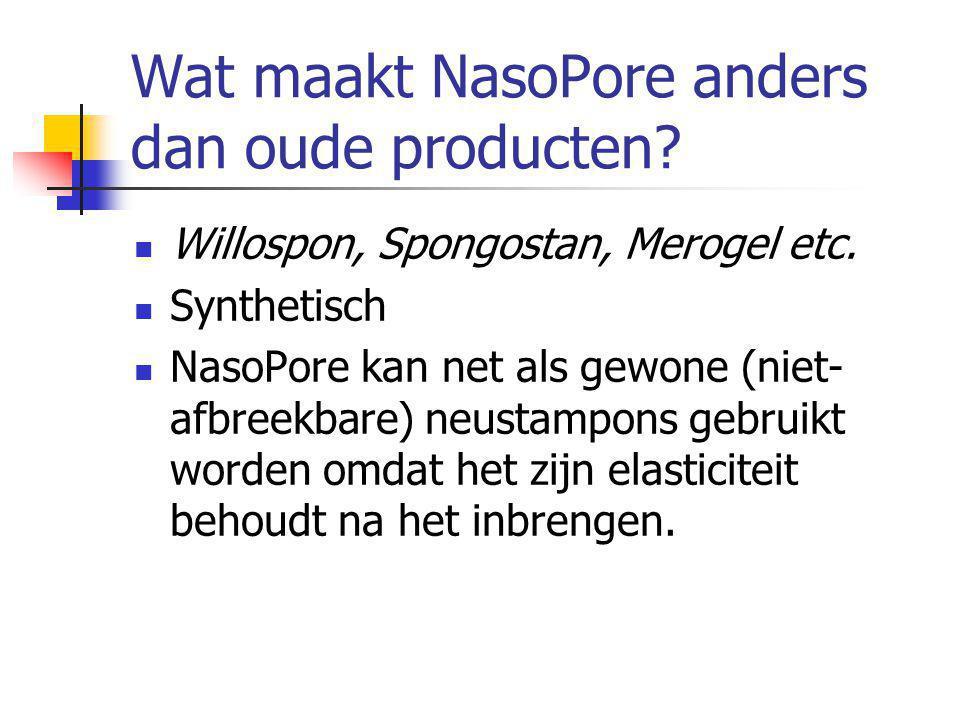 Wat maakt NasoPore anders dan oude producten