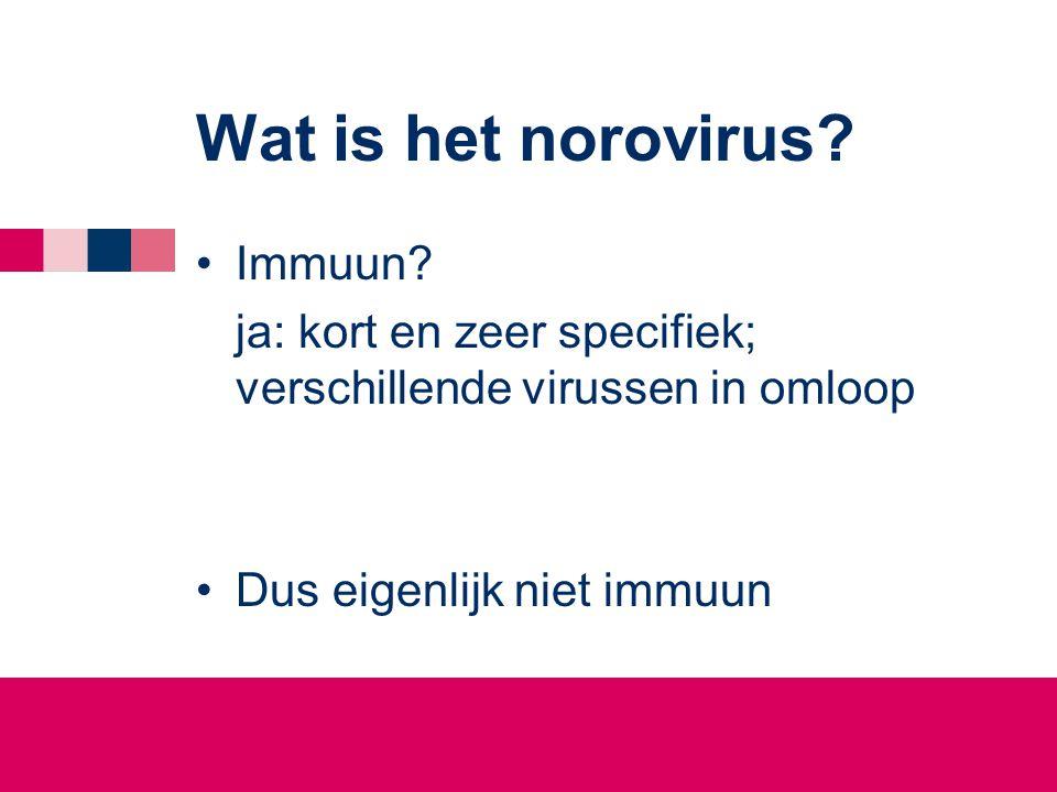 Wat is het norovirus Immuun