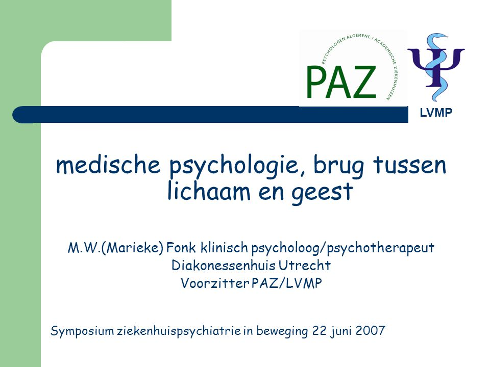 medische psychologie, brug tussen lichaam en geest