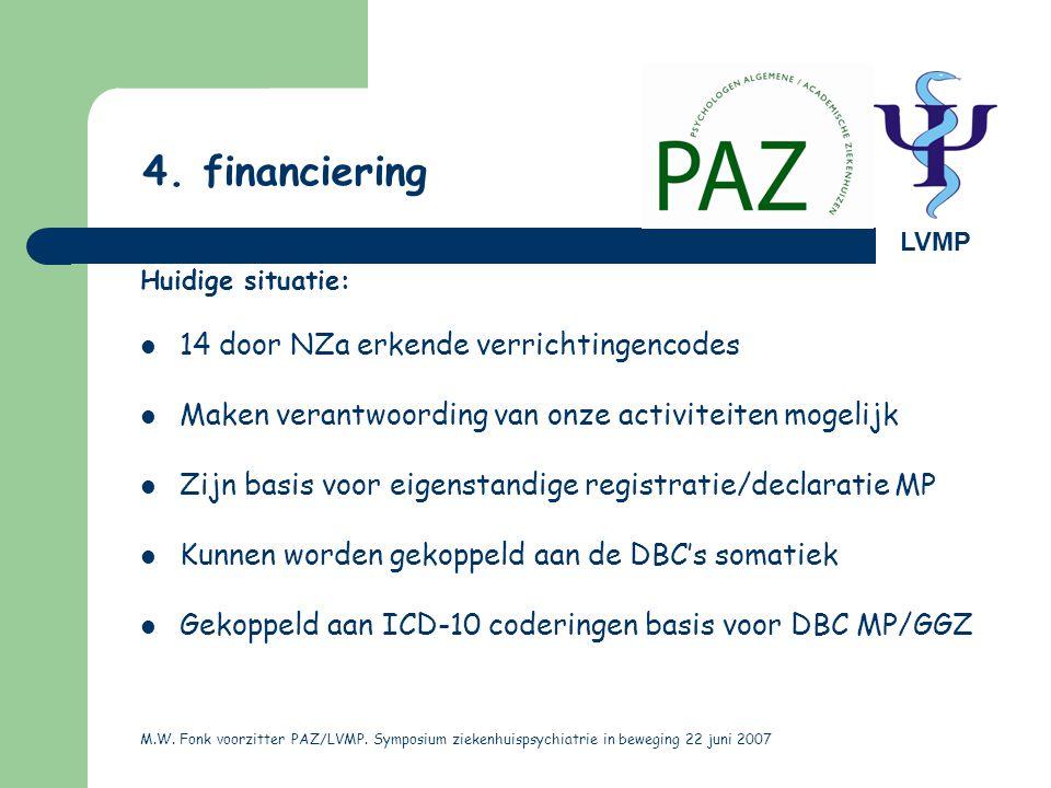 4. financiering 14 door NZa erkende verrichtingencodes