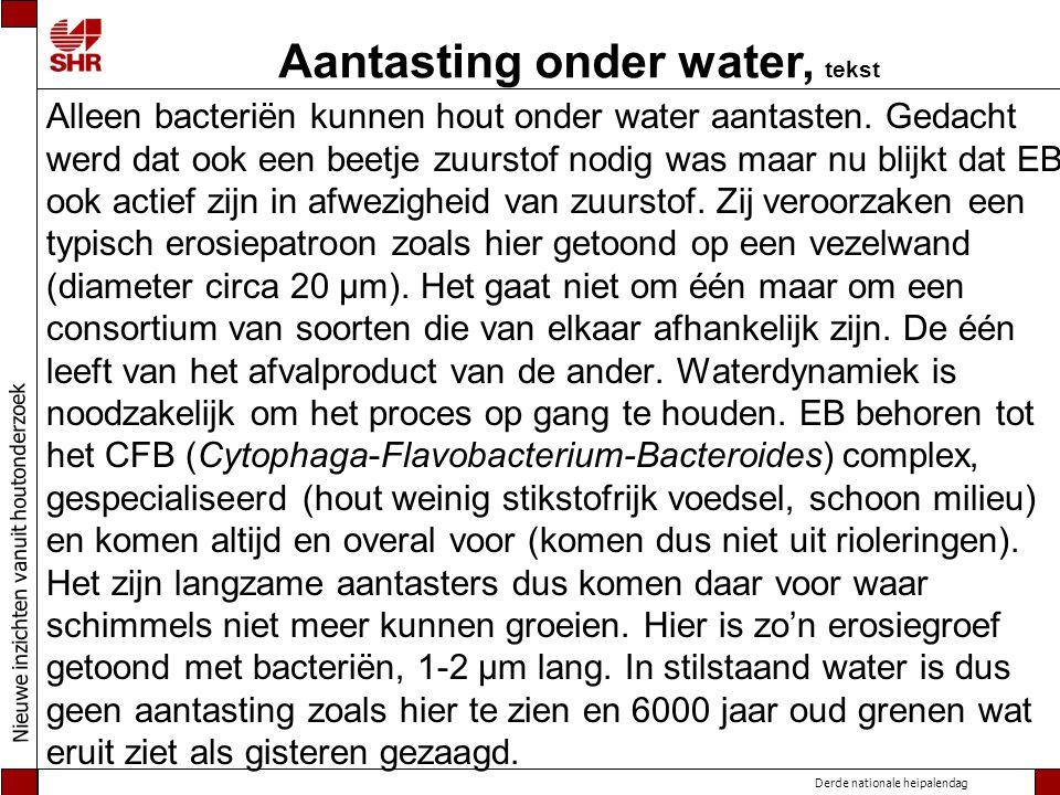 Aantasting onder water, tekst