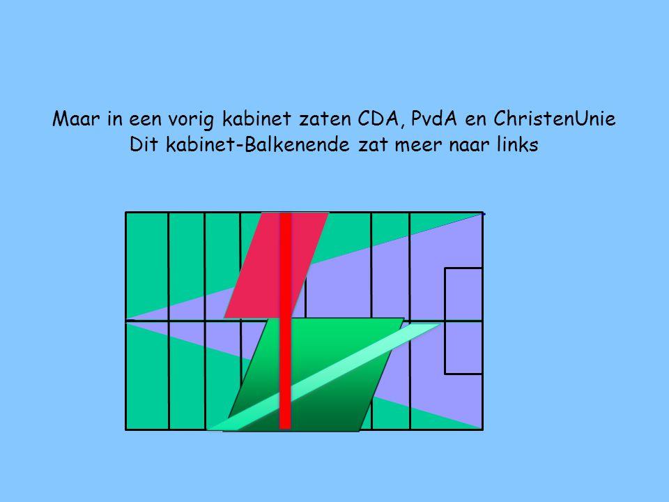 Maar in een vorig kabinet zaten CDA, PvdA en ChristenUnie