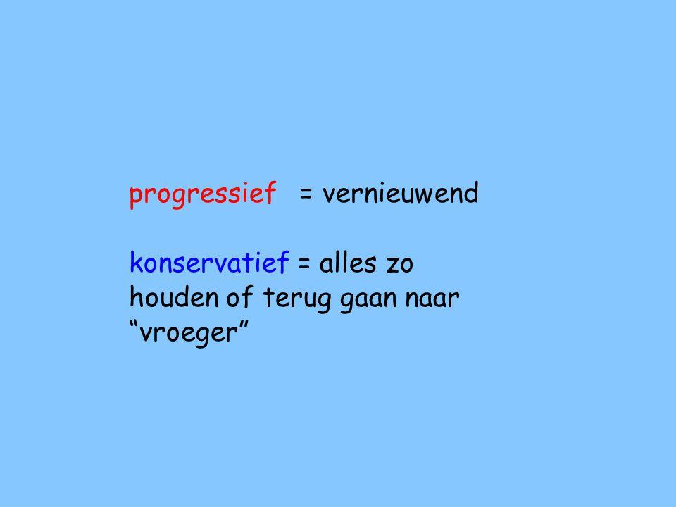 progressief = vernieuwend