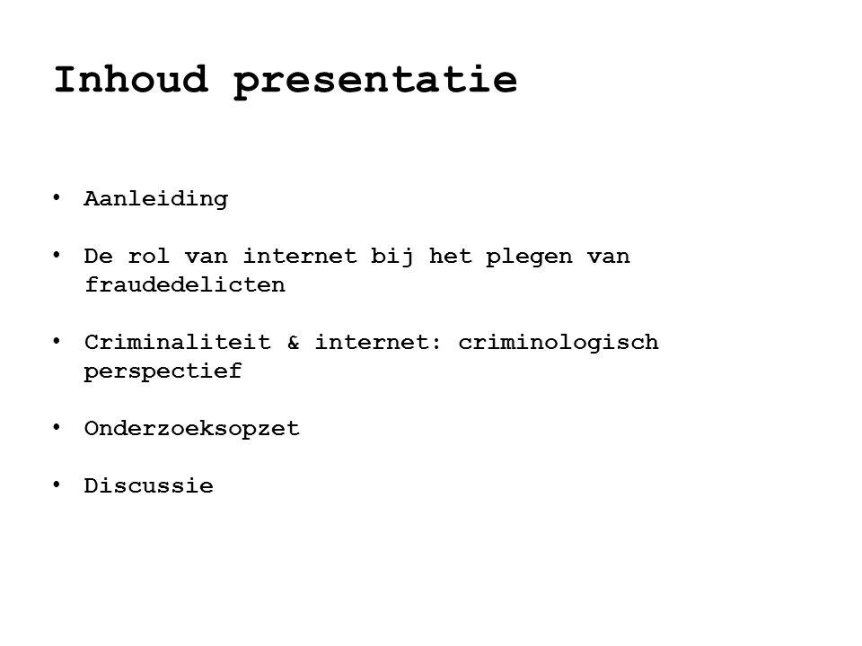 Inhoud presentatie Aanleiding
