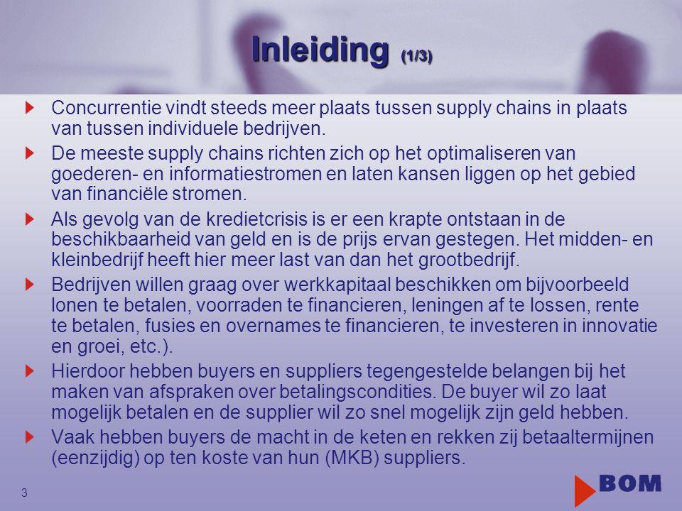 Inleiding (1/3) Concurrentie vindt steeds meer plaats tussen supply chains in plaats van tussen individuele bedrijven.
