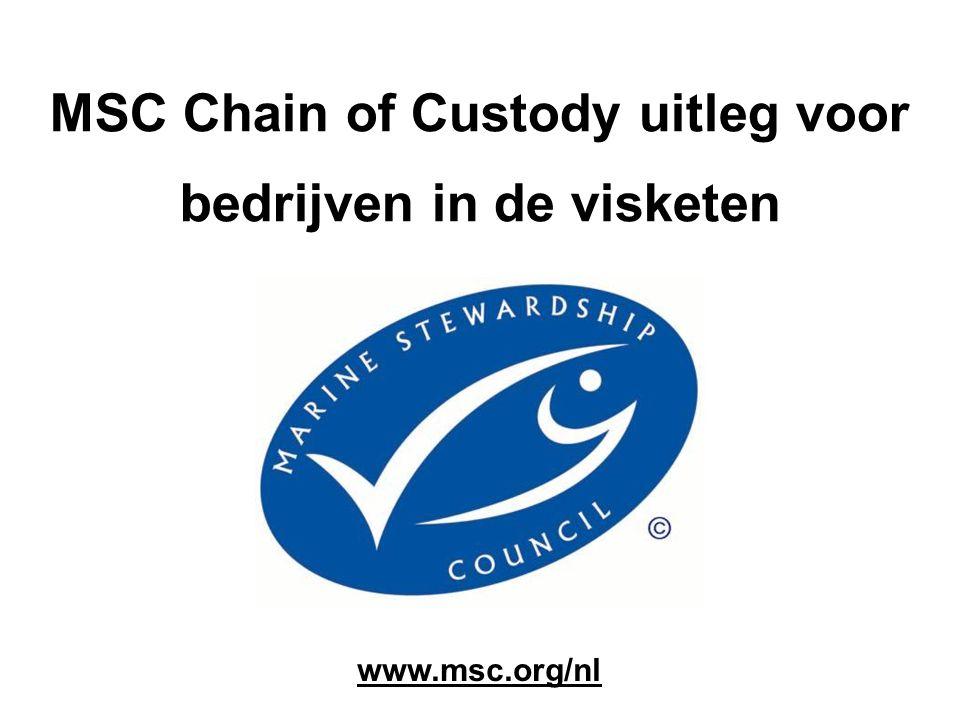 MSC Chain of Custody uitleg voor bedrijven in de visketen