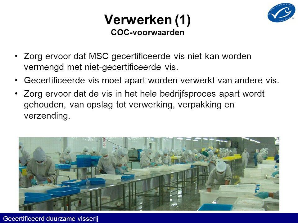 Verwerken (1) COC-voorwaarden