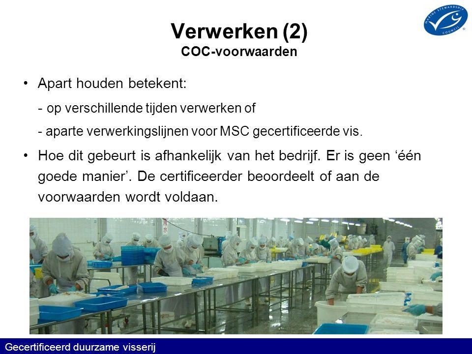 Verwerken (2) COC-voorwaarden