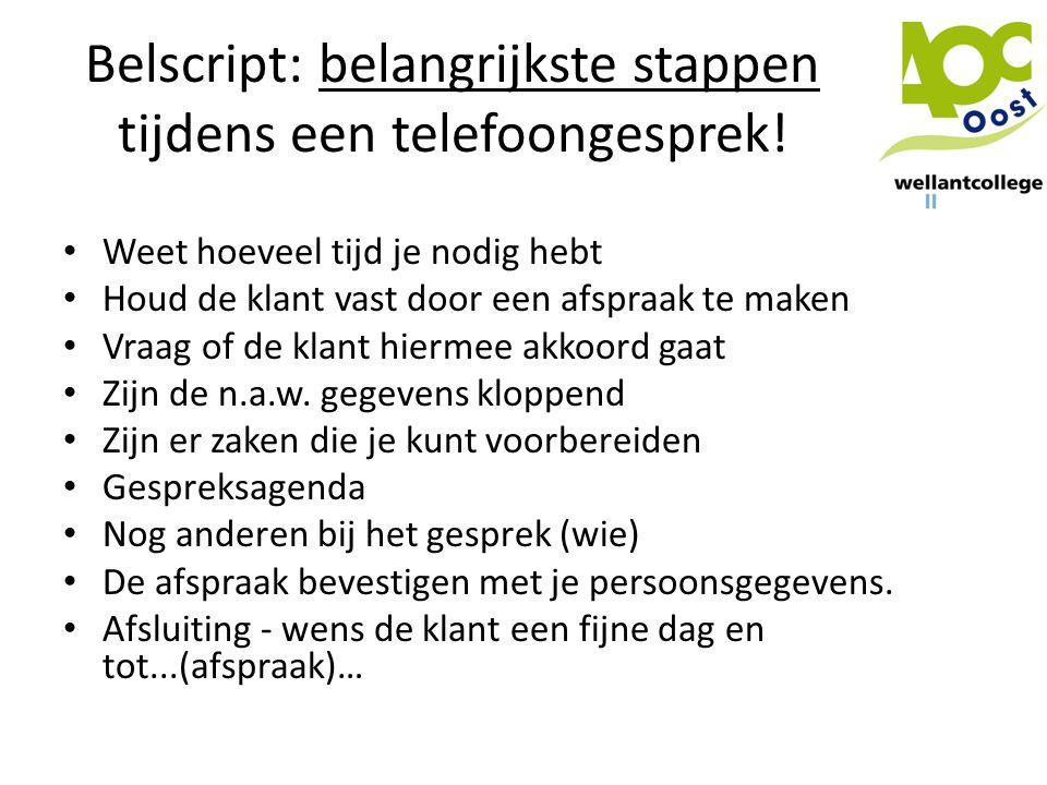 Belscript: belangrijkste stappen tijdens een telefoongesprek!
