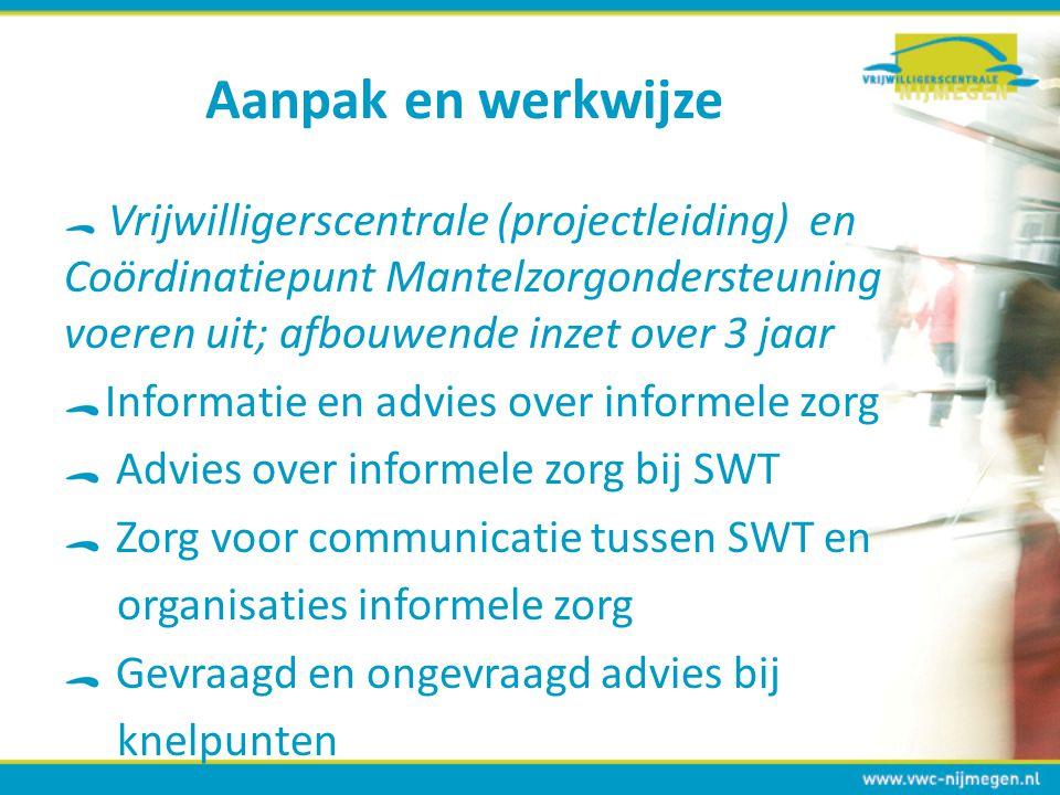 Aanpak en werkwijze Informatie en advies over informele zorg