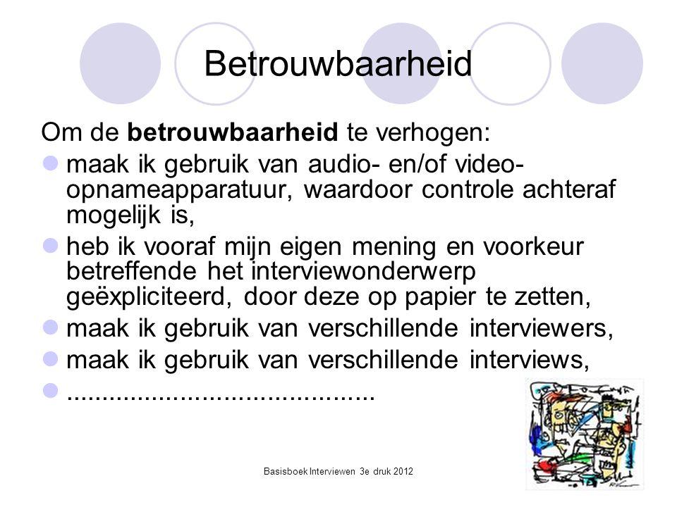 Basisboek Interviewen 3e druk 2012