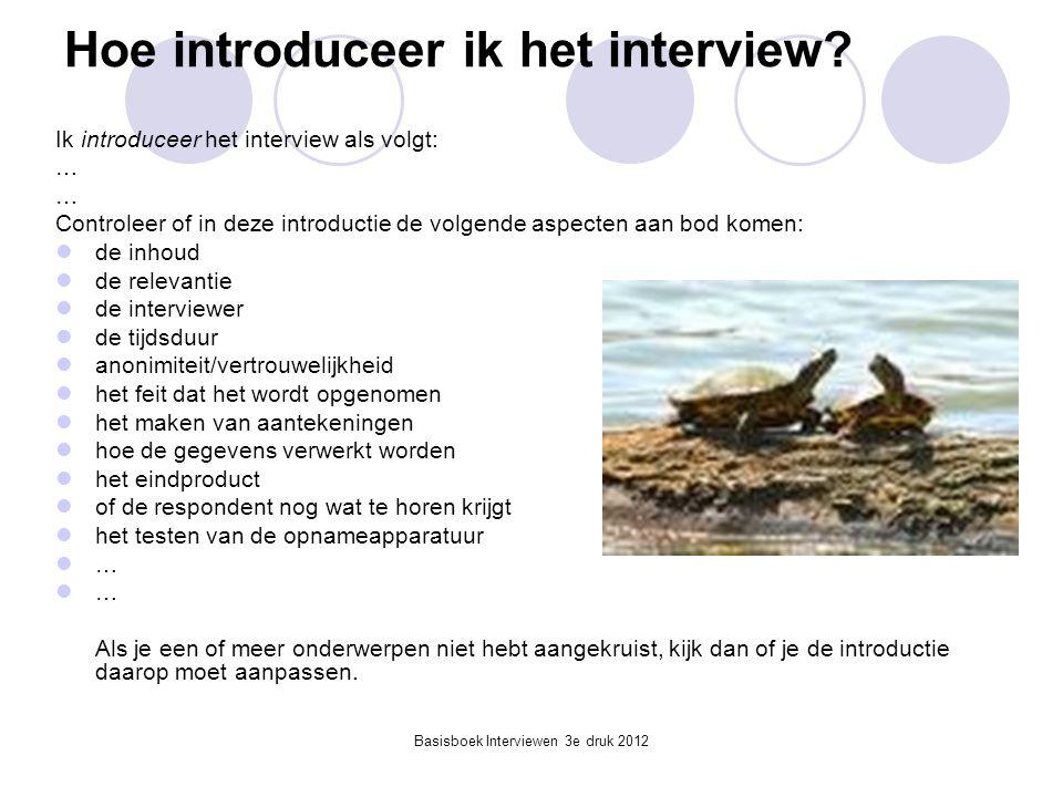 Hoe introduceer ik het interview