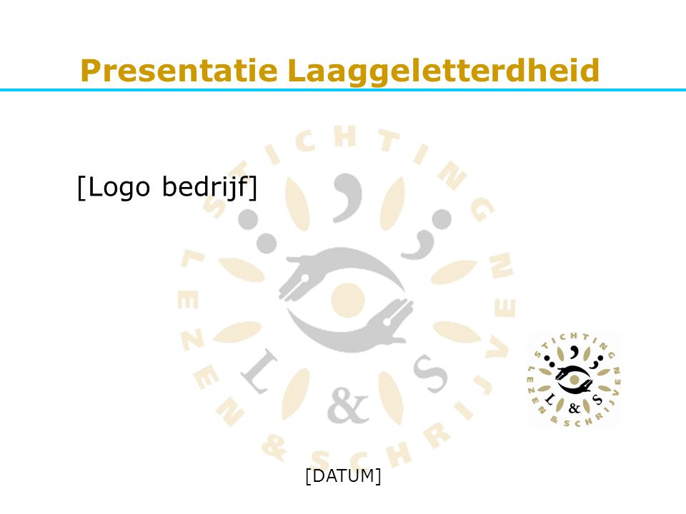 Presentatie Laaggeletterdheid