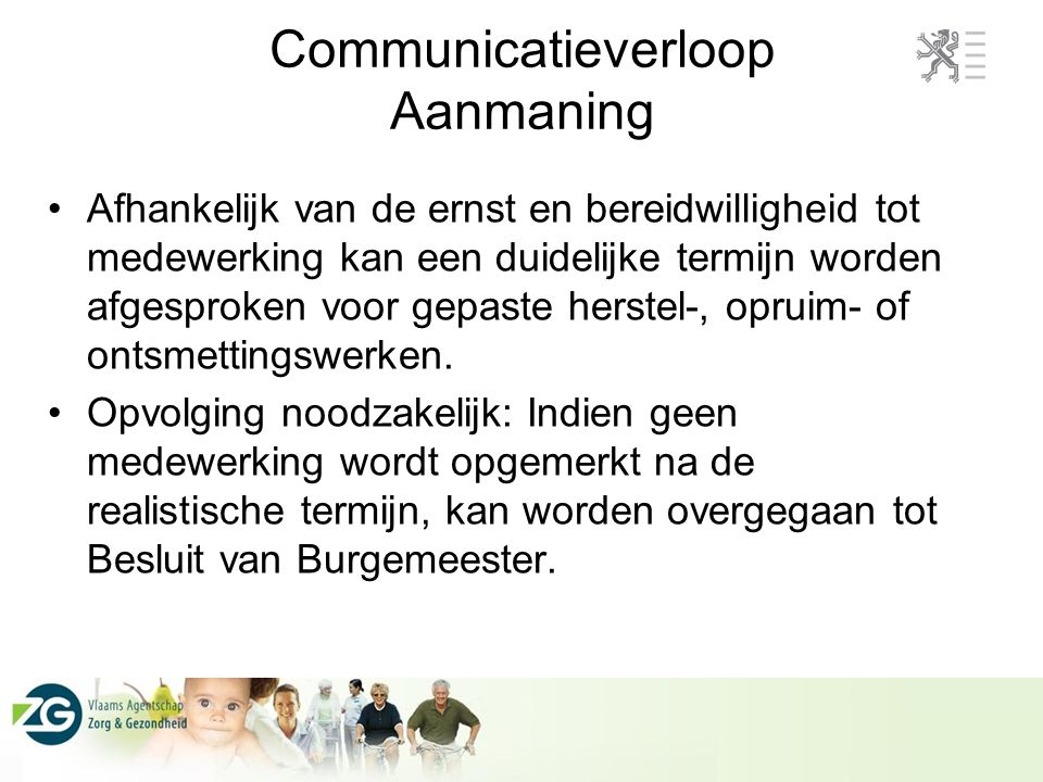 Communicatieverloop Aanmaning
