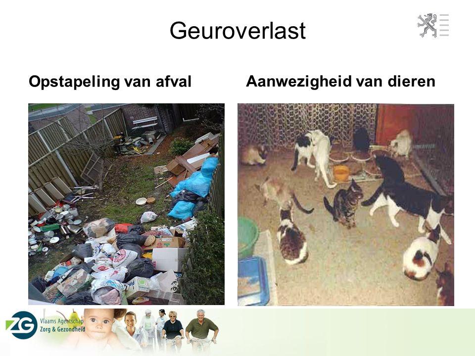 Geuroverlast Aanwezigheid van dieren Opstapeling van afval