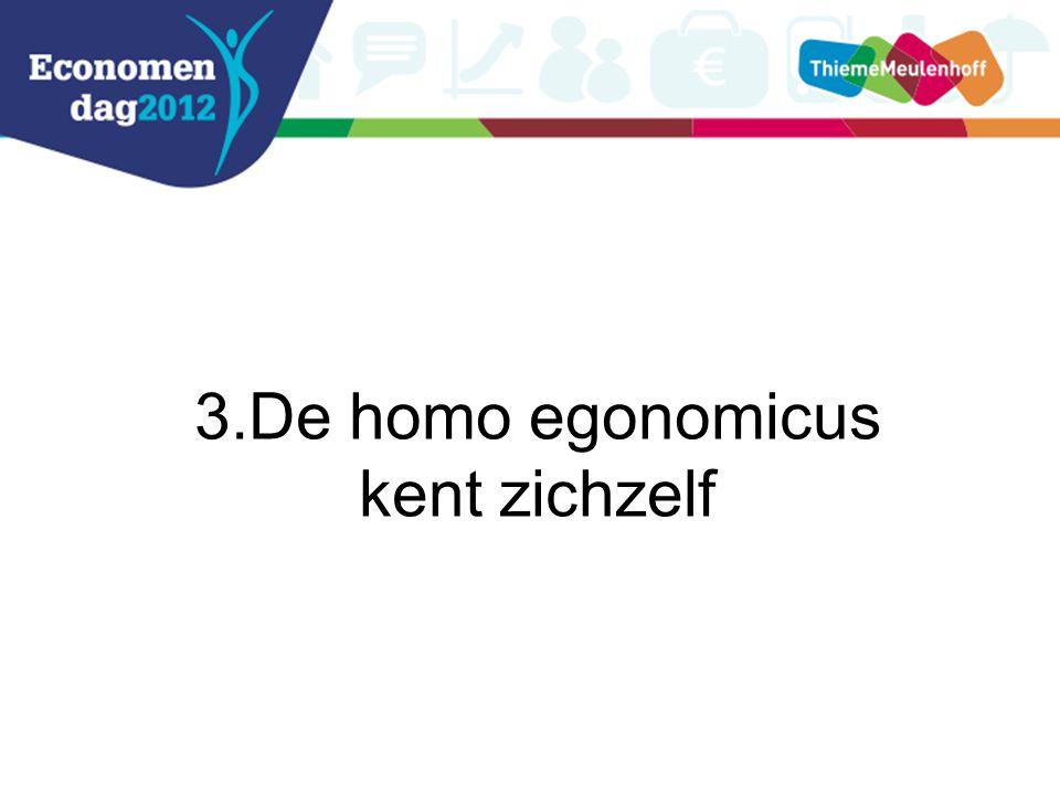 3.De homo egonomicus kent zichzelf