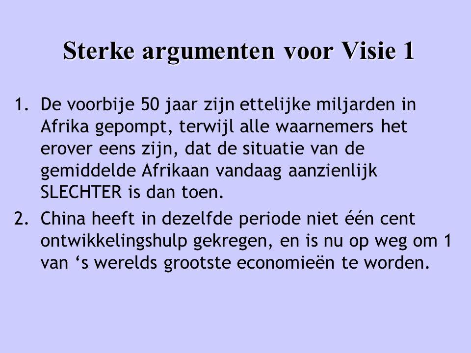Sterke argumenten voor Visie 1