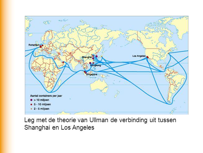 Leg met de theorie van Ullman de verbinding uit tussen Shanghai en Los Angeles