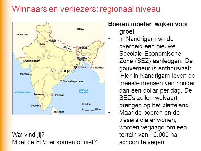 Winnaars en verliezers: regionaal niveau