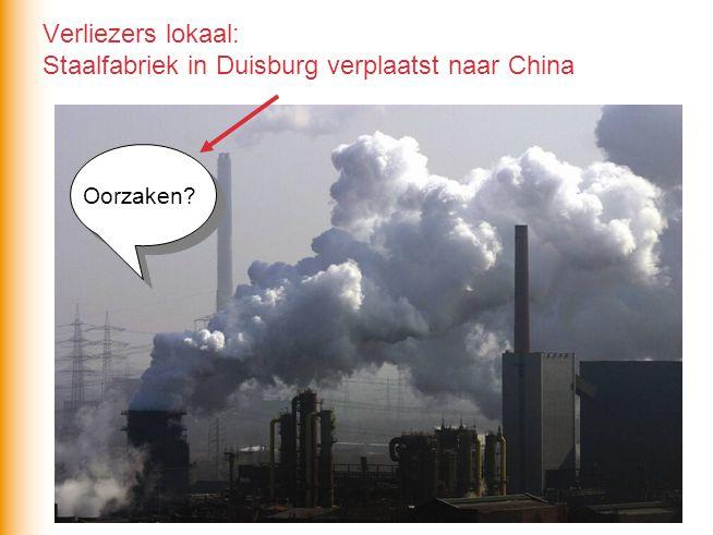 Verliezers lokaal: Staalfabriek in Duisburg verplaatst naar China