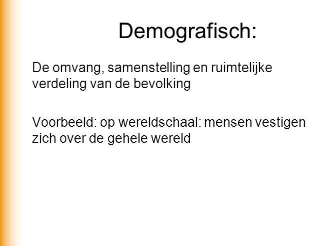 Demografisch: