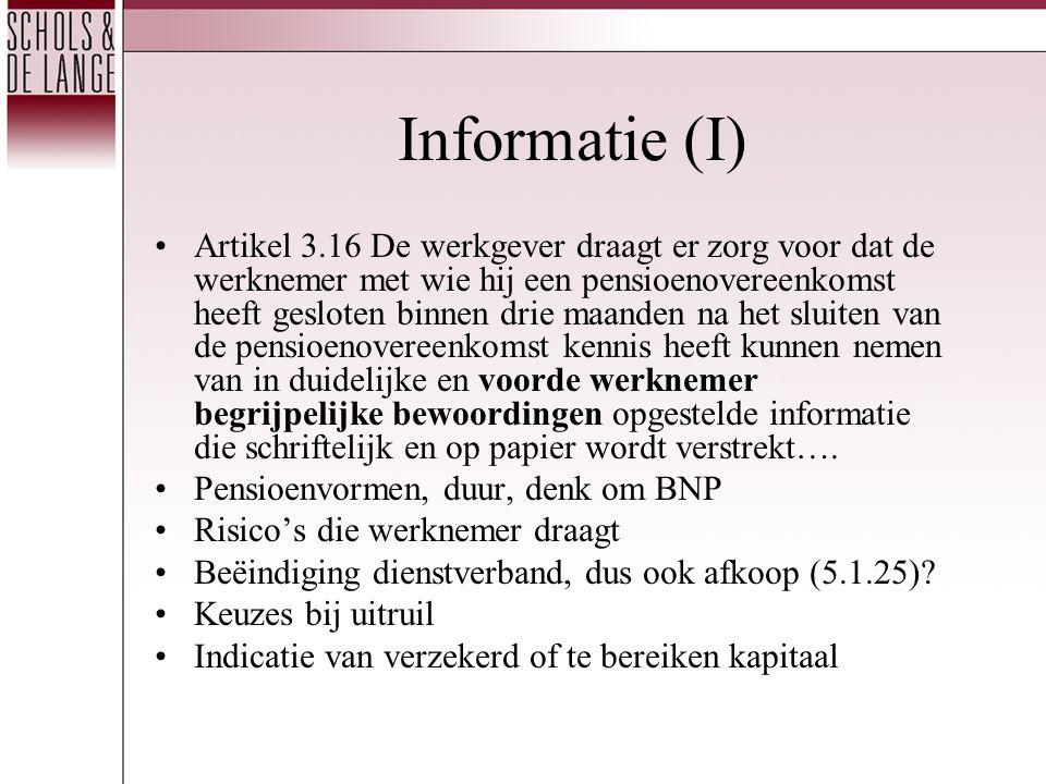 Informatie (I)