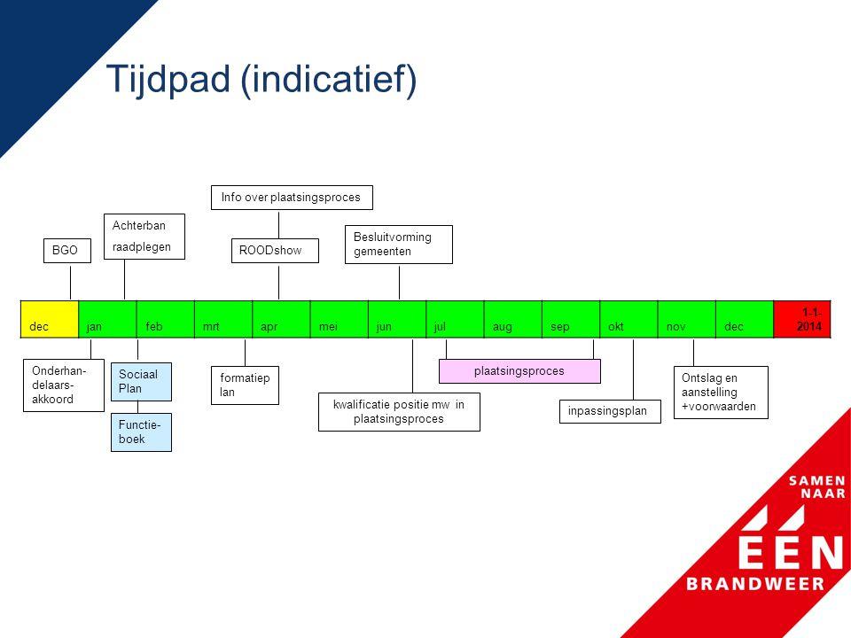 Tijdpad (indicatief) Info over plaatsingsproces. Achterban. raadplegen. Besluitvorming gemeenten.