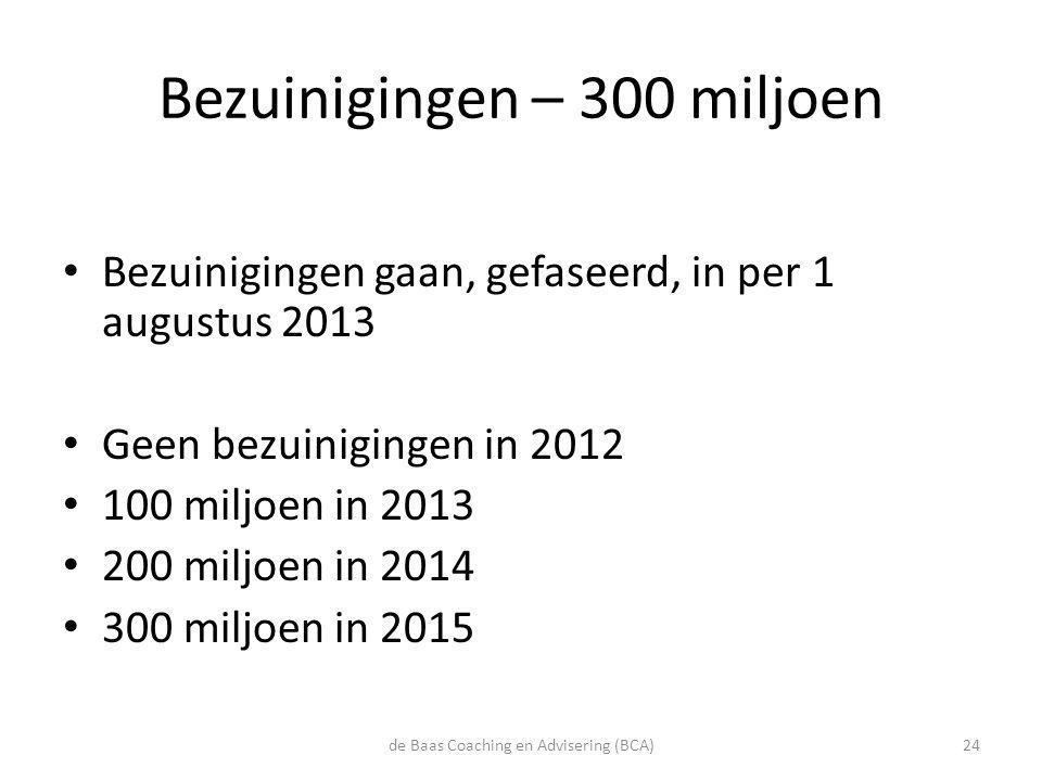 Bezuinigingen – 300 miljoen