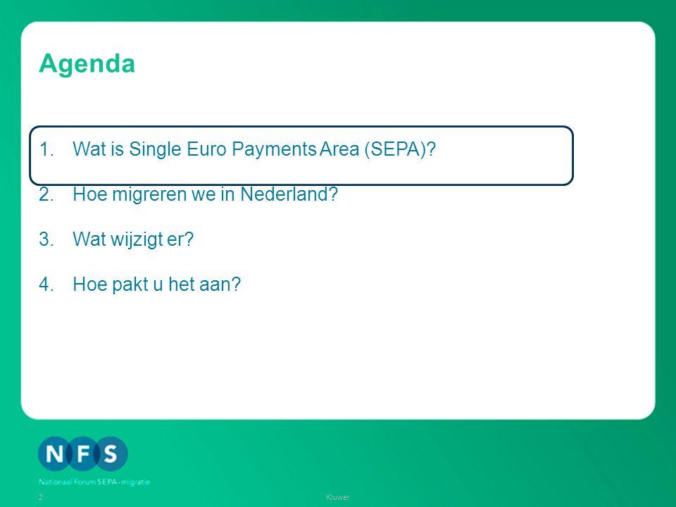 Agenda Wat is Single Euro Payments Area (SEPA)