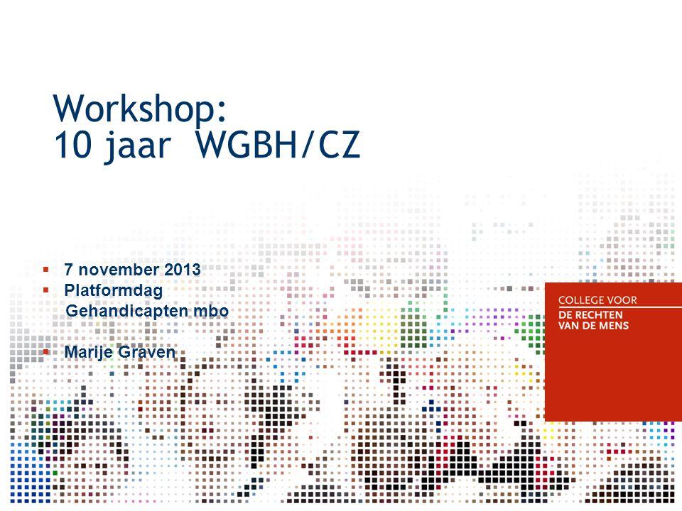 Workshop: 10 jaar WGBH/CZ