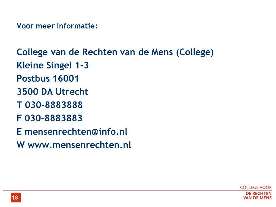 College van de Rechten van de Mens (College) Kleine Singel 1-3