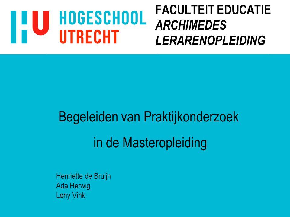 FACULTEIT EDUCATIE ARCHIMEDES LERARENOPLEIDING