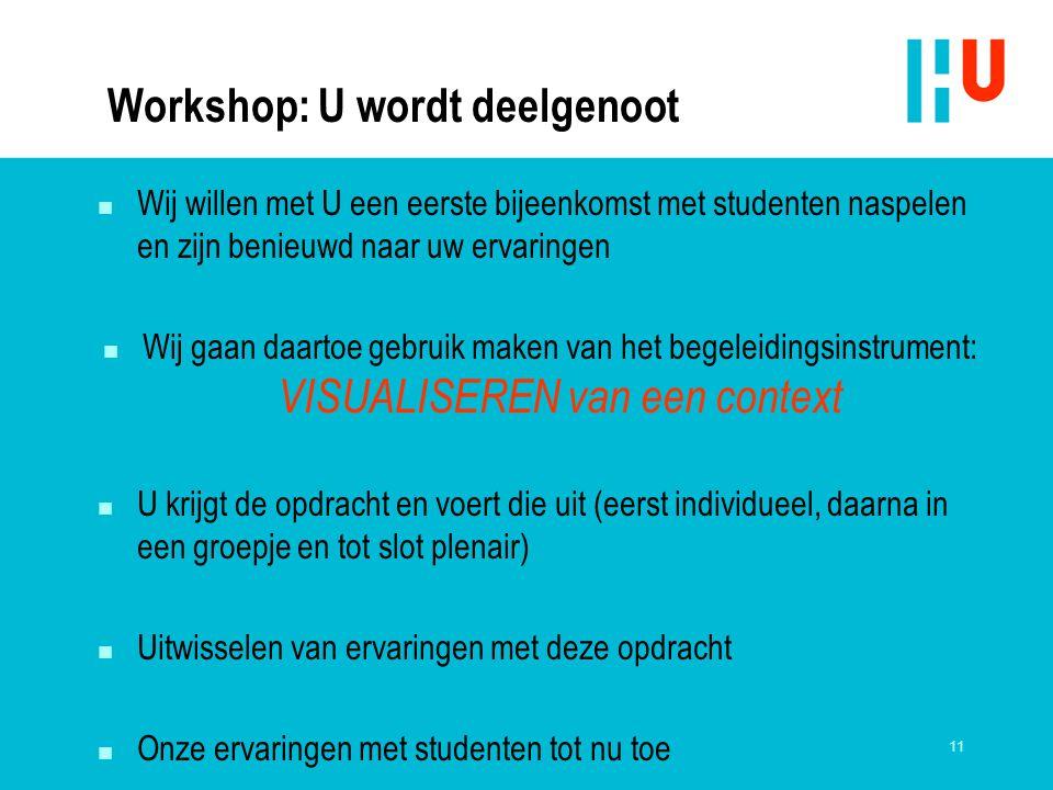 Workshop: U wordt deelgenoot