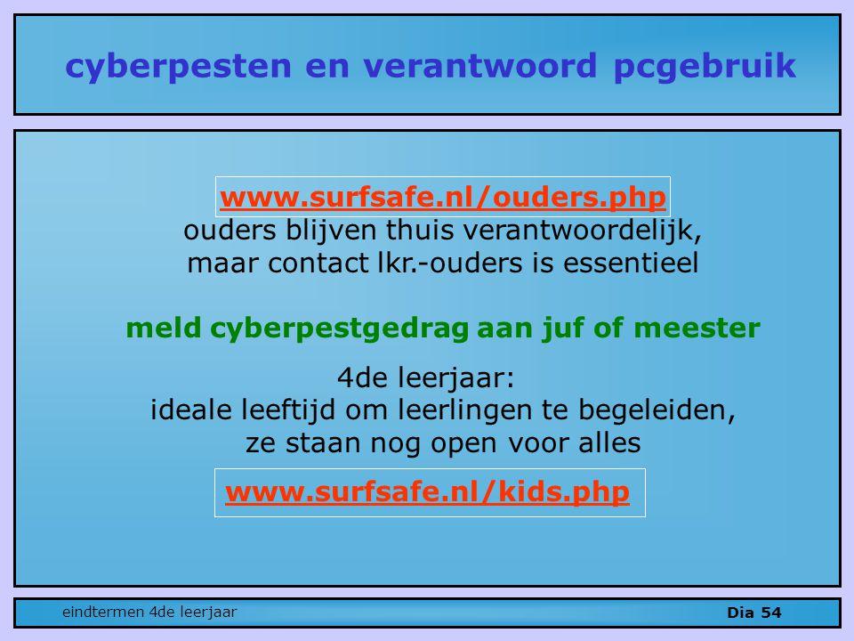 cyberpesten en verantwoord pcgebruik