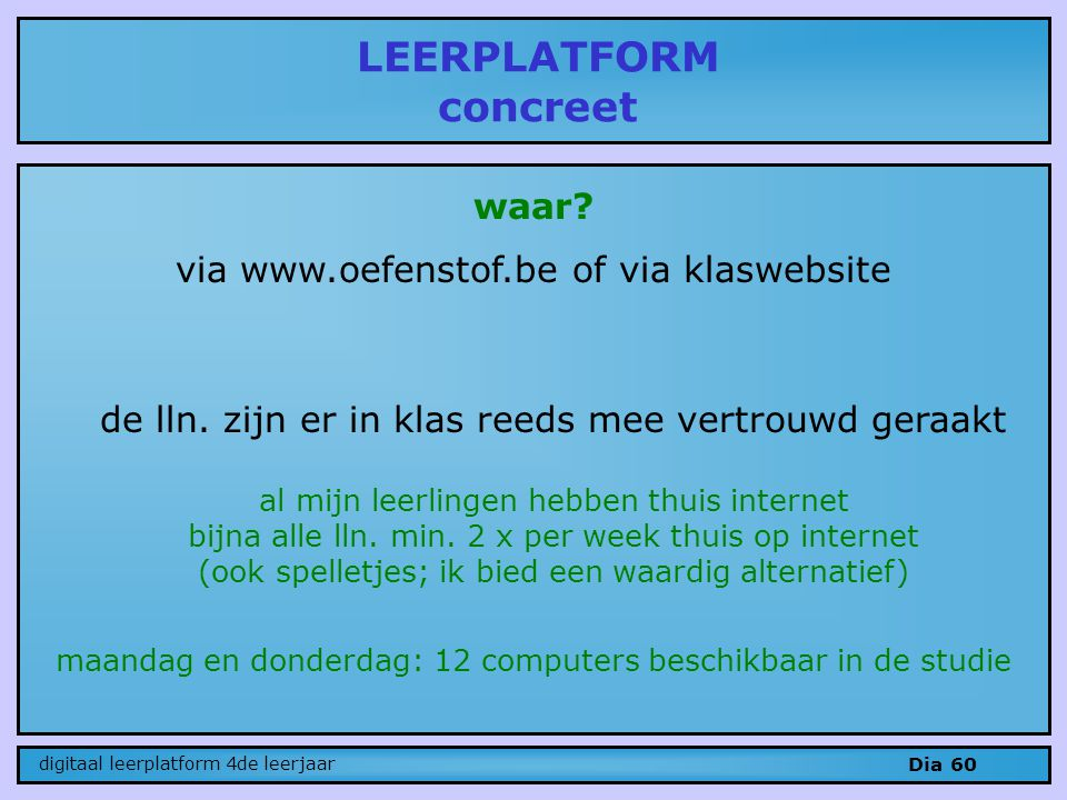 LEERPLATFORM concreet