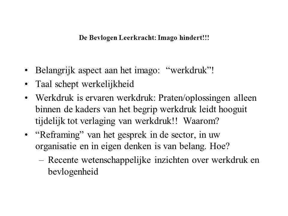 De Bevlogen Leerkracht: Imago hindert!!!