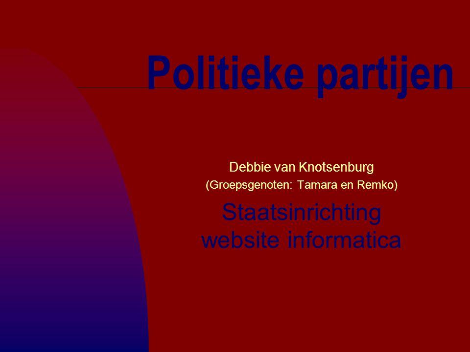 Politieke partijen Staatsinrichting website informatica