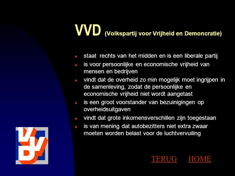 VVD (Volkspartij voor Vrijheid en Demoncratie)
