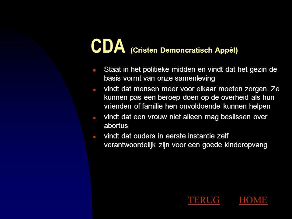 CDA (Cristen Demoncratisch Appèl)