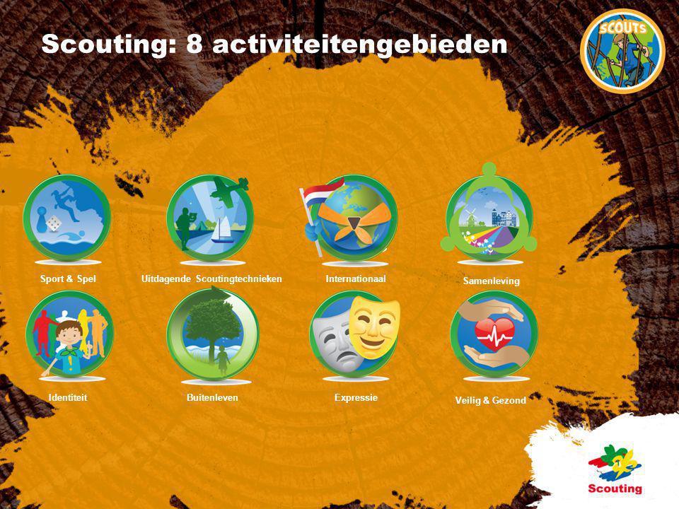 Scouting: 8 activiteitengebieden
